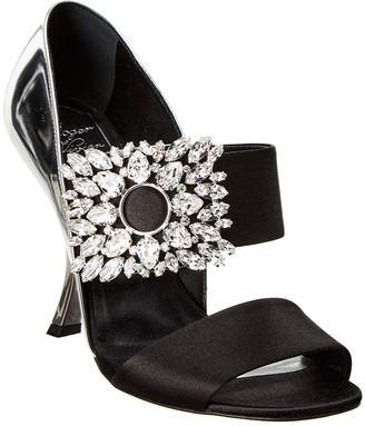 Roger Vivier Embellished Satin & Patent Sandal