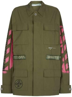 Off-White Off White Diagonal Arrows Field Jacket
