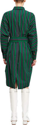 Opening Ceremony Stripe Belted Shirt Dress
