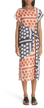 Zero Maria Cornejo Dot Print Linen Dress