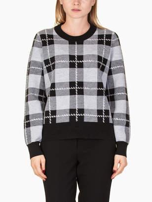 Michael Kors Plaid Embell Sweater