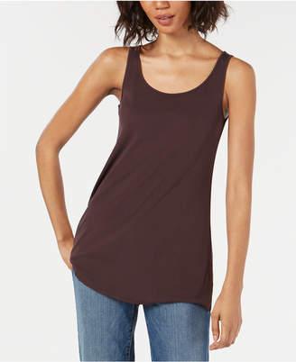 Eileen Fisher Swing-Fit Silk Jersey Tank Top
