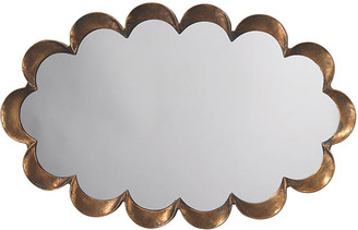 Jamie Young Scalloped Wall Mirror - Antiqued Gold