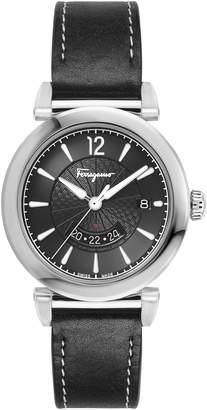 Salvatore Ferragamo Feroni Leather Strap Watch, 40mm