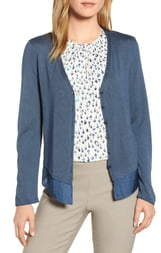 Nic+Zoe Easy Flow Silk Blend Cardigan