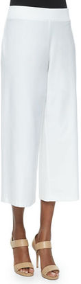 Eileen Fisher Wide-Leg Washable-Crepe Cropped Pants, Petite $168 thestylecure.com