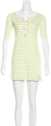 Juicy Couture Striped Lace-Up Tunic