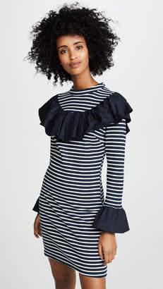 ENGLISH FACTORY Contrast Ruffle Dress