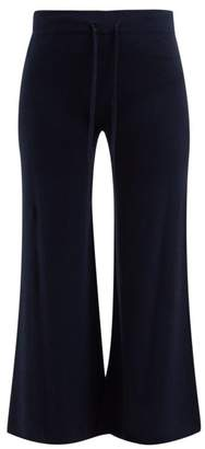 Roche Ryan Mid Rise Drawstring Cashmere Trousers - Womens - Navy