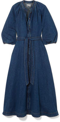 Co Denim Midi Dress - Mid denim