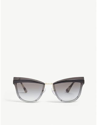 Prada Womens Grey Pr12U Cat-Eye-Frame Sunglasses