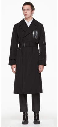 Random Identities Black Military Trench Coat