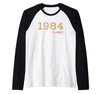 35th Birthday Gift For Men And Women. 1984 Classic Raglan Baseball Tee