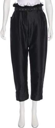 Isa Arfen Belted High-Rise Pants