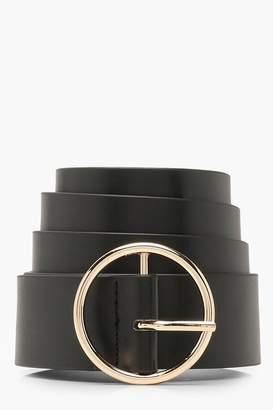 boohoo Plus Circle Ring Belt