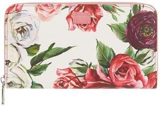 Dolce & Gabbana Floral Zip-Around Wallet
