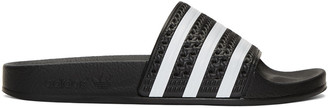 adidas Originals Black Adilette Slide Sandals $30 thestylecure.com
