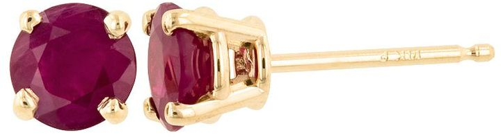 14k Gold Lab-Created Ruby Stud Earrings