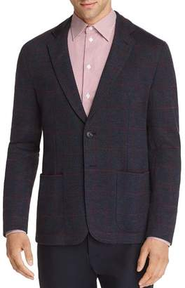 Emporio Armani Windowpane Check Regular Fit Soft Sport Coat