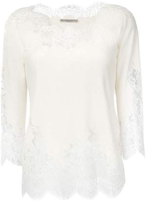 Ermanno Scervino lace insert blouse