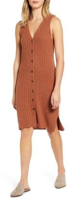 Madewell Button Front Tank Sweater Dress