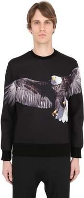 Neil Barrett Eagle Printed Neoprene Sweatshirt