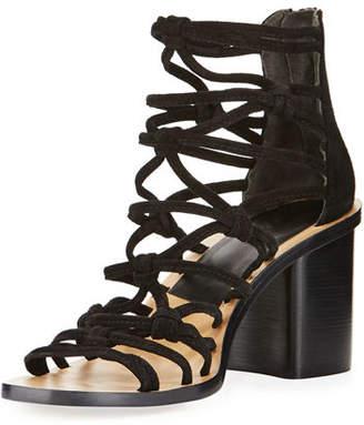Rag & Bone Camille Caged Macrame Mid-Heel Sandal