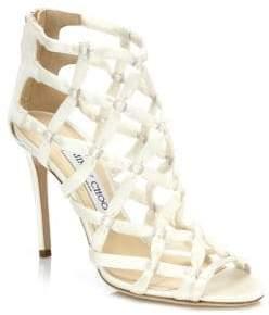 Jimmy Choo Violet Suede Lattice Sandals