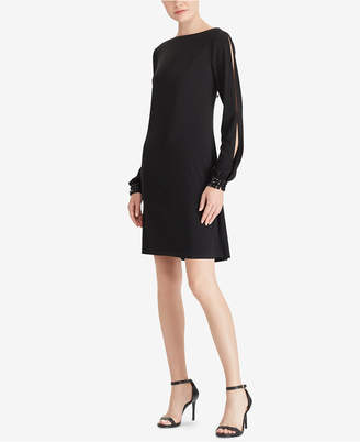 American Living Embellished Bishop-Sleeve Dress