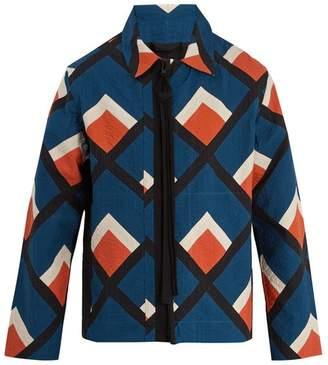 Craig Green Diamond-appliqué Holiday cotton jacket