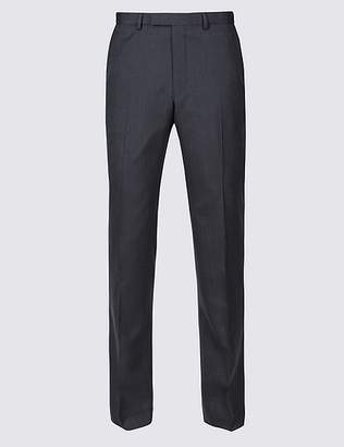 Marks and Spencer Navy Striped Tailored Fit Trousers