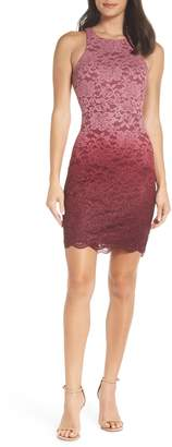 Sequin Hearts Ombre Lace Cocktail Dress