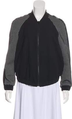 Elizabeth and James Knit-Accented Zip-Up Jacket