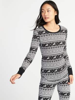 Old Navy Fitted Thermal Tee for Women