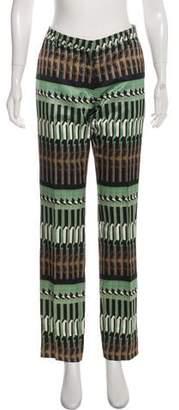 Dries Van Noten Printed Straight-Leg Pants