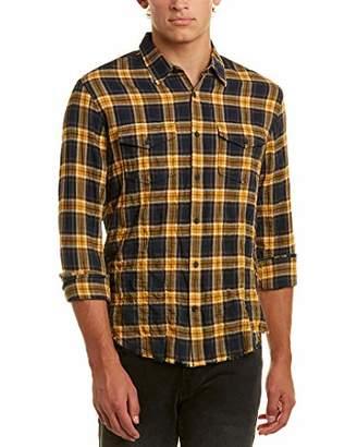 Vince Men's Frayed Edge Western Shirt