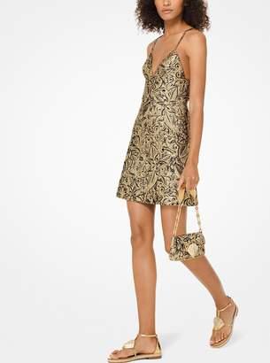 Michael Kors Floral Brocade Slip Dress