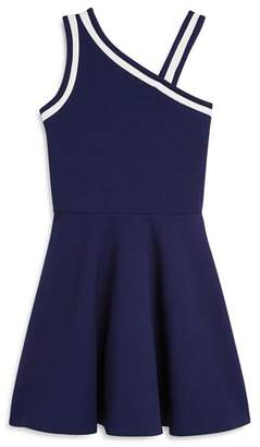 Aqua Girls' Asymmetrical Textured Dress, Big Kid - 100% Exclusive