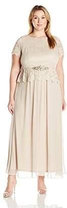 Jessica Howard JessicaHoward Women's Plus Size Popover Gown