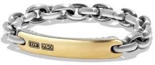 David Yurman Streamline Id Bracelet With 18K Gold