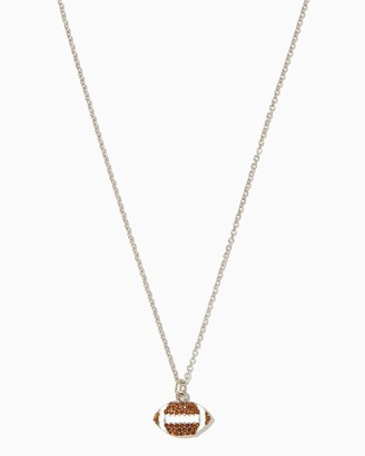Pavé Football Pendant Necklace $10 thestylecure.com