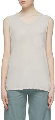 James Perse Chest pocket muscle tank top