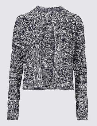 Marks and Spencer Cotton Rich Textured Trophy Cardigan