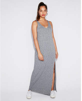 Express marled strappy back maxi dress