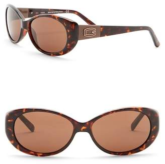 GUESS 55mm Oval Sunglasses