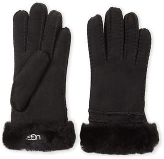 UGG Suede Shearling-Lined Gloves