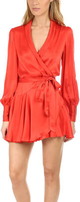 Zimmermann Wrap Short Dress