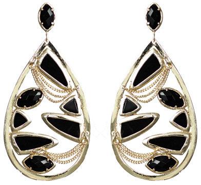 Kendra Scott Jewelry Floating Black Teardrop Earrings