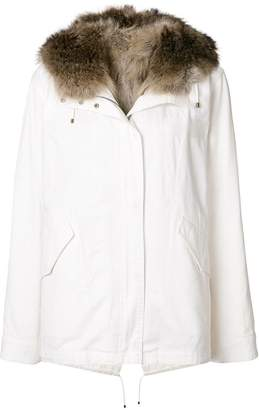Yves Salomon Army racoon fur trim hooded parka