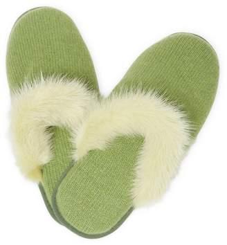 Portolano Cashmere Mink Slippers